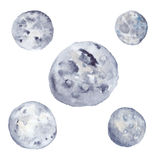 Watercolor Moon Illustrations Set Royalty Free Stock Image