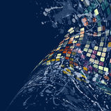 Watercolor mosaic03 Royalty Free Stock Photo
