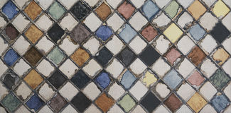 Watercolor mosaic tile. For interior Stock Photography