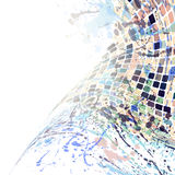 Watercolor mosaic white Royalty Free Stock Image