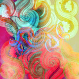 Watercolor multicolored abstract elements Royalty Free Stock Photos