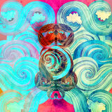Watercolor multicolored abstract elements Royalty Free Stock Photography
