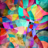 Watercolor multicolored abstract elements Stock Photography