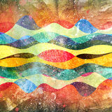 Watercolor multicolored abstract elements Stock Photo