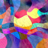 Watercolor multicolored abstract elements Stock Photos