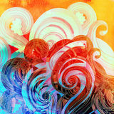 Watercolor multicolored abstract elements Royalty Free Stock Images