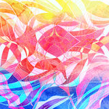 Watercolor multicolored abstract elements Royalty Free Stock Photo