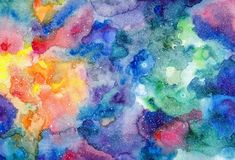 Watercolor multicolored bright texture Stock Images