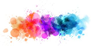 Watercolor multicolored line Stock Images