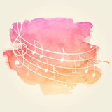 Watercolor Music Background Royalty Free Stock Photo