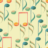 Watercolor music pattern Royalty Free Stock Photo