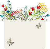 Watercolor natural card Stock Photo