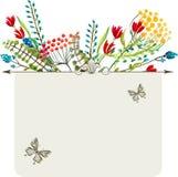 Watercolor natural card Stock Photo