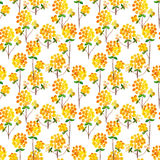 Watercolor natural seamless pattern Stock Image