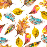 Watercolor natural seamless pattern Royalty Free Stock Photography
