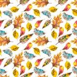Watercolor natural seamless pattern Royalty Free Stock Image
