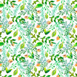 Watercolor natural seamless pattern Stock Images