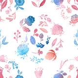 Watercolor nature pattern Stock Photography