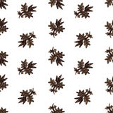 Watercolor nature seamless vector pattern (brown). Leaves pattern. Vintage pattern royalty free illustration
