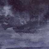 Watercolor navy blue black grey gray rain wet asphalt texture background Stock Photography