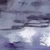 Watercolor navy blue black grey gray rain wet asphalt texture background Royalty Free Stock Photos
