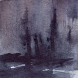 Watercolor navy blue black grey gray rain wet asphalt texture background Stock Image
