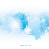 Watercolor-New-Year-blue-brush. Vector watercolor New Year background. Colorful abstract texture. Vector design elements. Vector watercolor splash. Vector winter Royalty Free Illustration