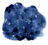 Watercolor night sky background, hand drawn watercolour texture. Watercolor night sky background, hand drawn watercolour indigo texture Stock Images