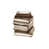 Watercolor old books. Isolated on white Royalty Free Stock Photos
