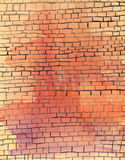 Watercolor old brick wall Royalty Free Stock Photography