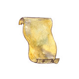 Watercolor old parchment Royalty Free Stock Photo