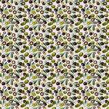 Watercolor olives seamless pattern Royalty Free Stock Image