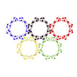 Watercolor Olympic rings on a white background Royalty Free Stock Photo