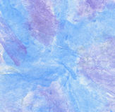 Watercolor On Paper In Blue And Purple Stock Photo
