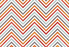 Watercolor orange, blue, red and grey stripes background, chevron. Royalty Free Stock Photography