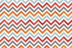 Watercolor orange, blue, red and grey stripes background, chevron. Royalty Free Stock Images