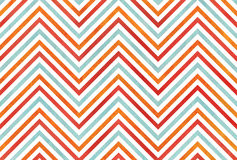 Watercolor orange, blue and red stripes background, chevron. Stock Images
