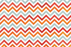 Watercolor orange, blue and red stripes background, chevron. Royalty Free Stock Photography