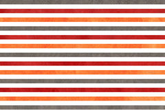 Watercolor orange, dark red and grey striped background. Royalty Free Stock Images