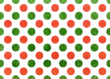 Watercolor orange and green polka dot background. Royalty Free Stock Photography