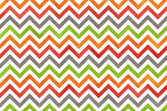 Watercolor orange, green, red and grey stripes background, chevron. Royalty Free Stock Images