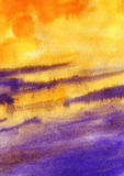 Watercolor orange purple abstract texture Royalty Free Stock Photos