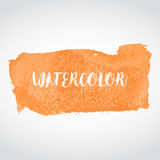 Watercolor orange splash. Abstract background. Vector illustration Royalty Free Stock Image