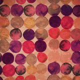 Watercolor original backdrop. Retro hand drawn circles ornament. Royalty Free Stock Images