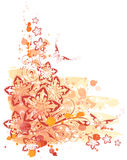 Watercolor, ornament & flower Stock Image