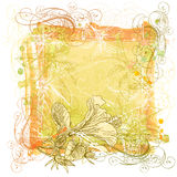Watercolor, ornament & flowers Royalty Free Stock Images