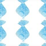 Watercolor ornamental fish pattern. Stock Images