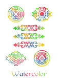 Watercolor Ornaments Royalty Free Stock Photography