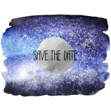 Watercolor outer space design Stock Photography