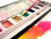 Watercolor paint royalty free stock photography